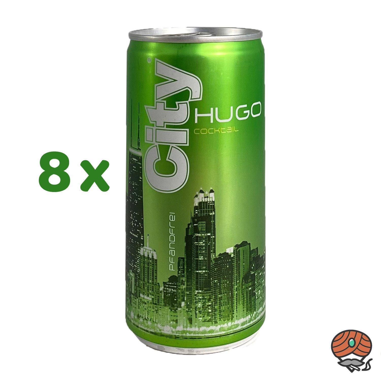 8 x City Hugo, 200 ml Dose, alc. 6,9 % Vol.
