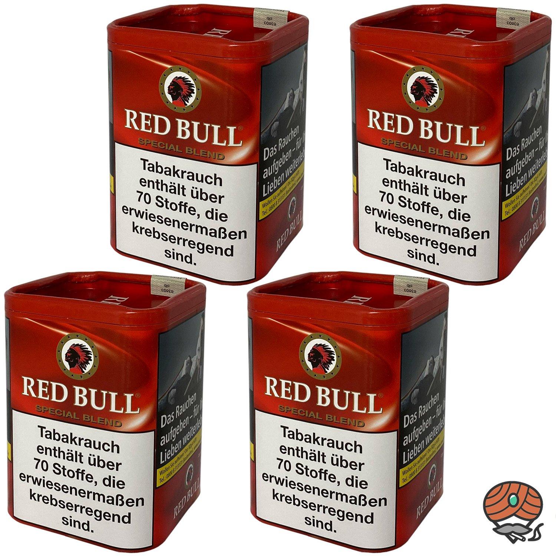 4x Red Bull Special Blend Tabak / Zigarettentabak Dose à 120g