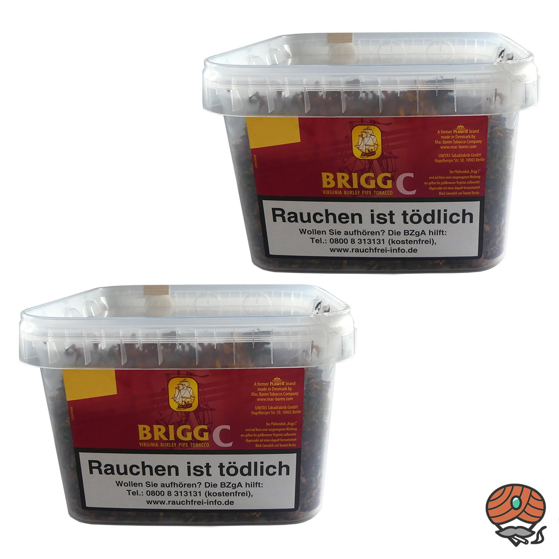 2x Brigg C (Cherry)  Eimer Pfeifentabak à 400 g mit fruchtigem Kirscharoma