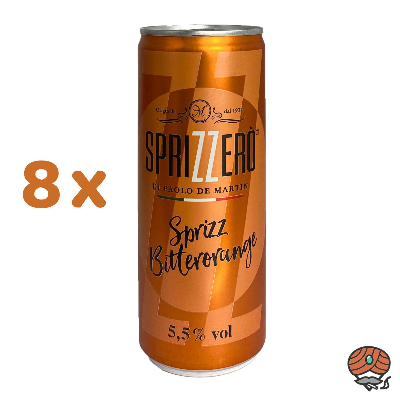 8 x Sprizzero Sprizz Bitterorange, 250 ml Dose, alc. 5,5 % Vol.