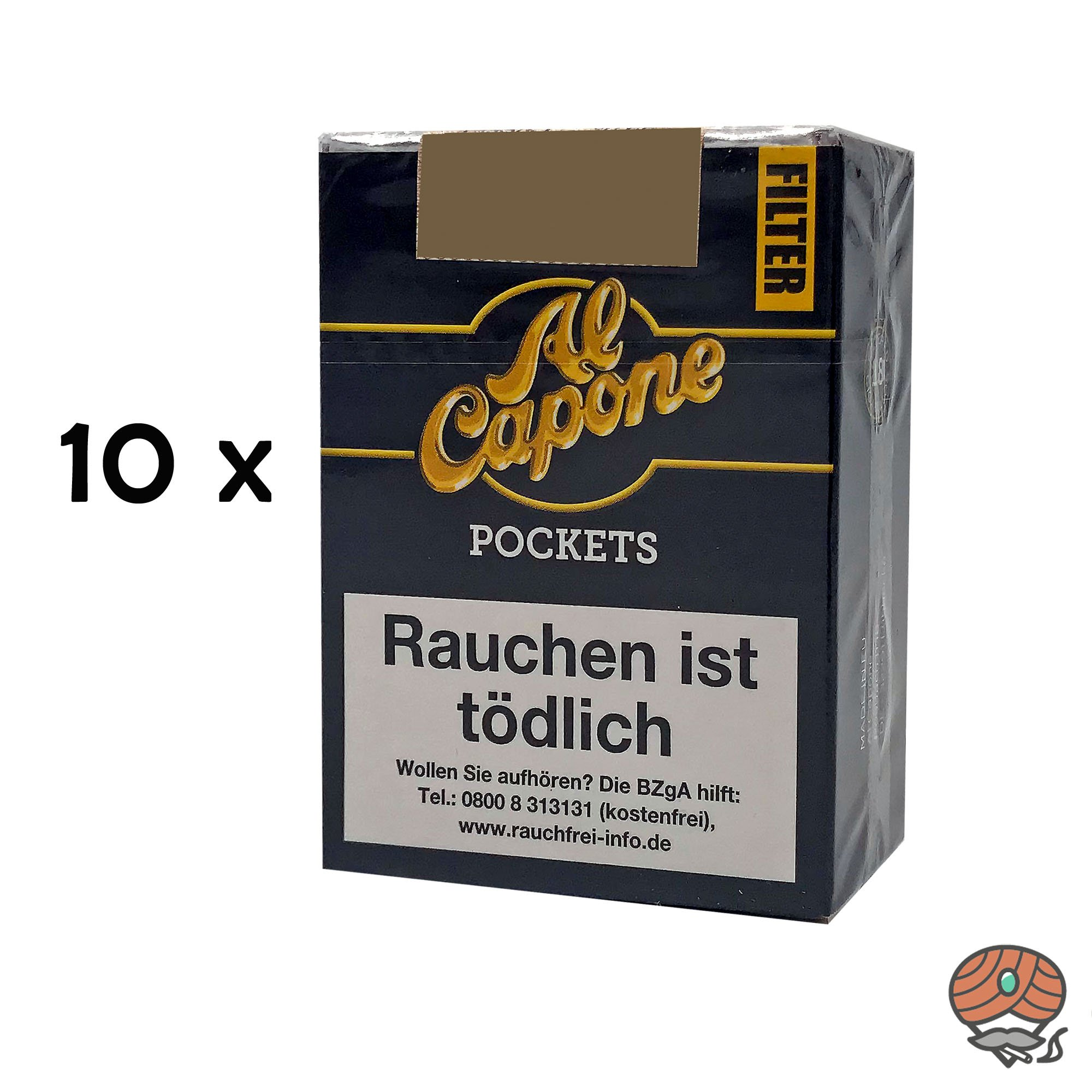 10 x Al Capone Pockets Original Blend Filterzigarillos