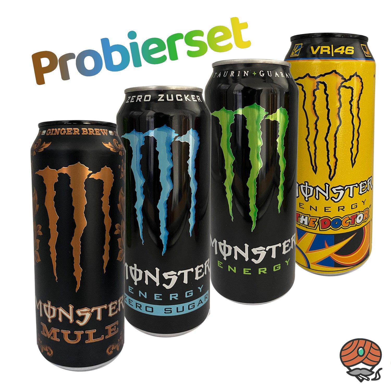 "4 x Monster Energy Drink, 500 ml Dose PROBIERSET ""Original"""