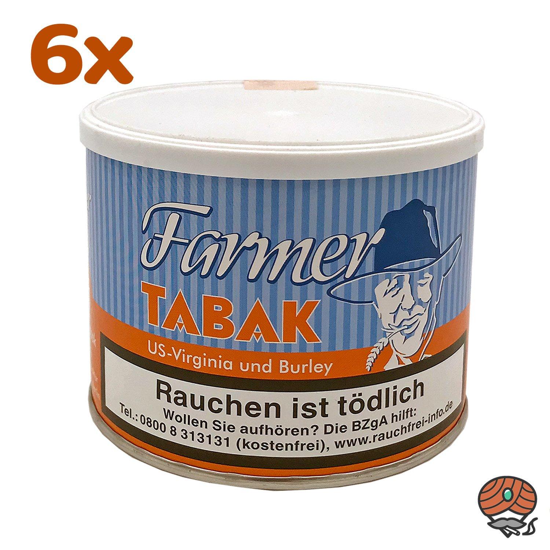 6 x Farmer Tabak Pfeifentabak / Stopftabak 50 g Dose
