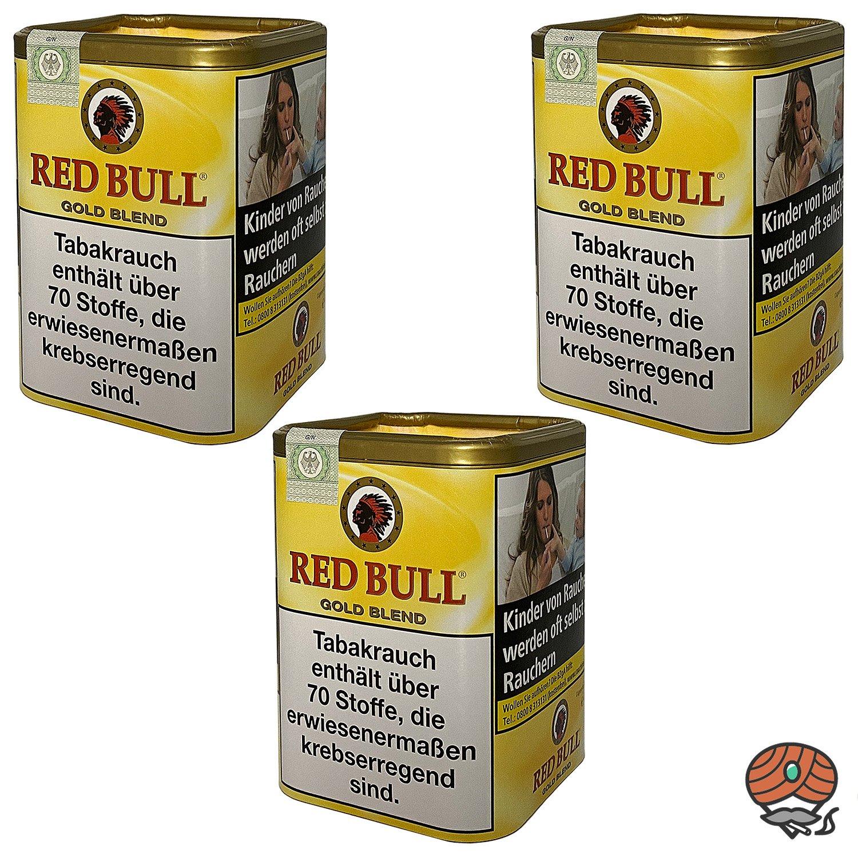 3x Red Bull Gold Blend Tabak / Zigarettentabak Dose à 120g
