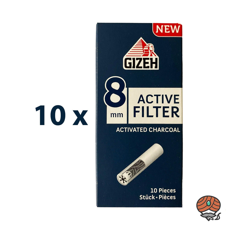 10 x Gizeh Active Filter 8 mm Aktivkohle à 10 Filter