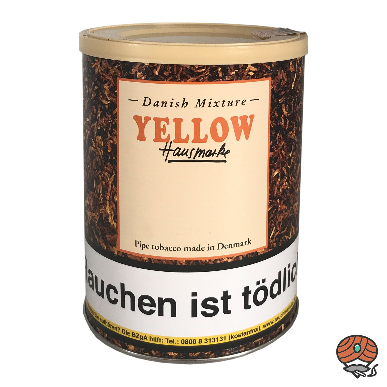 Danish Mixture Hausmarke Yellow Pfeifentabak 200g Dose