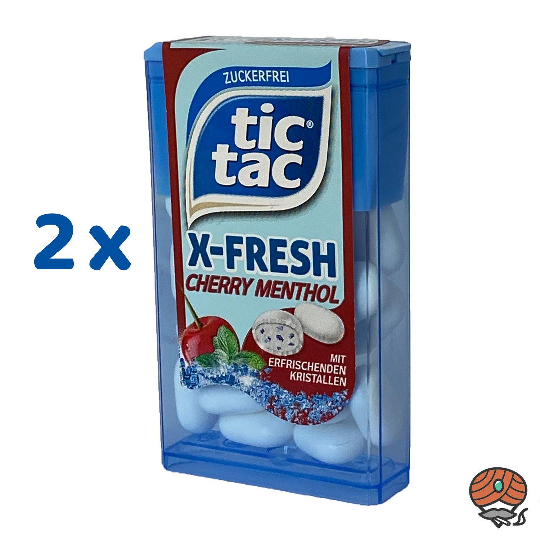 2 x Tic Tac X-Fresh, Cherry Menthol Dragee 16,4 g
