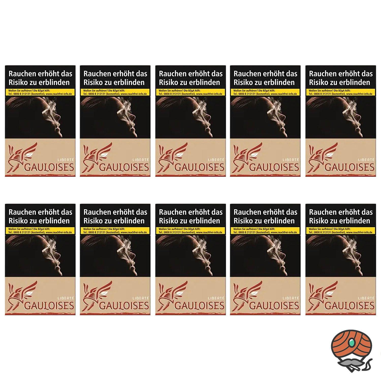 1 Stange Gauloises Liberté Rot Zigaretten ohne Zusatzstoffe 10x20 Stück