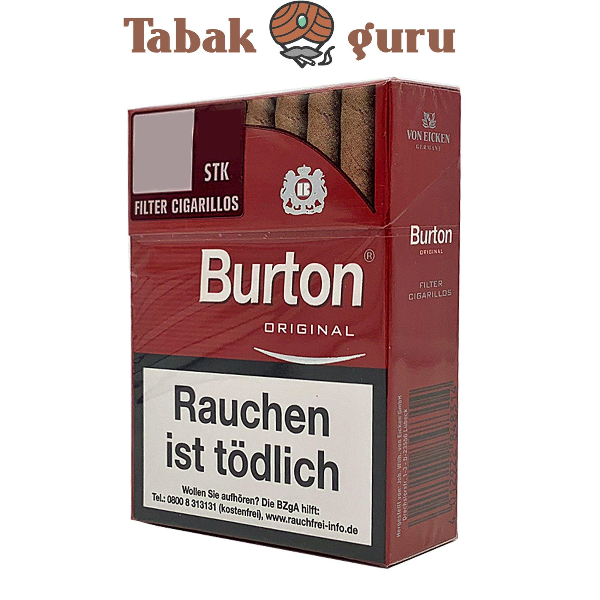 Burton Original Filter Cigarillos / Zigarillos  XL Box  (25 Stück)