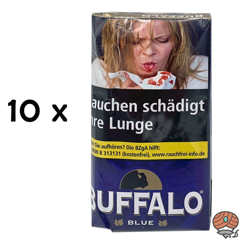 10 x Buffalo Blue Feinschnitt Drehtabak 40g Beutel