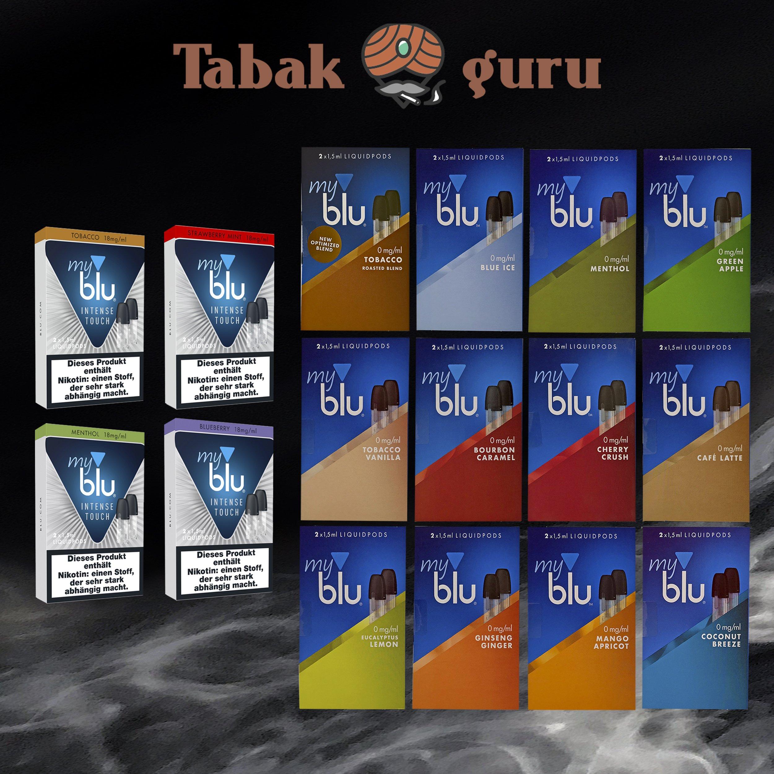 NO 20 Pack a 2 MyBlu Liquid Pods / My Blu Liquid Pods alle Sorten u. Stärken wählbar