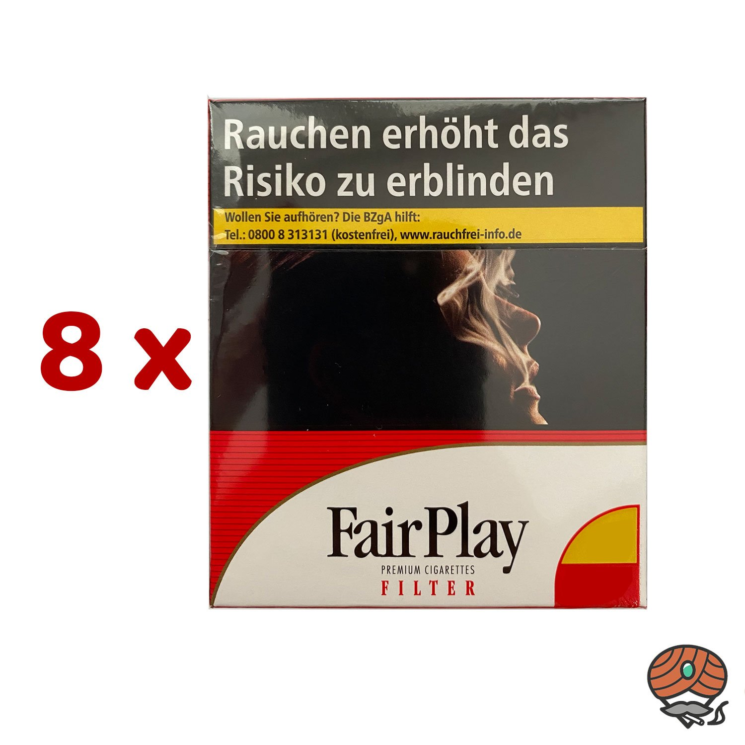 Stange FairPlay Full Flavor Giga Filter Zigaretten 8 x 35 Stück