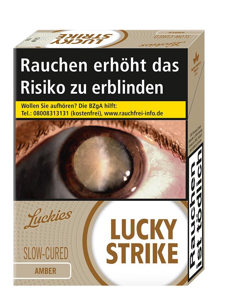 Lucky Strike Amber Filter Zigaretten OP Schachtel Inhalt 20 Stück
