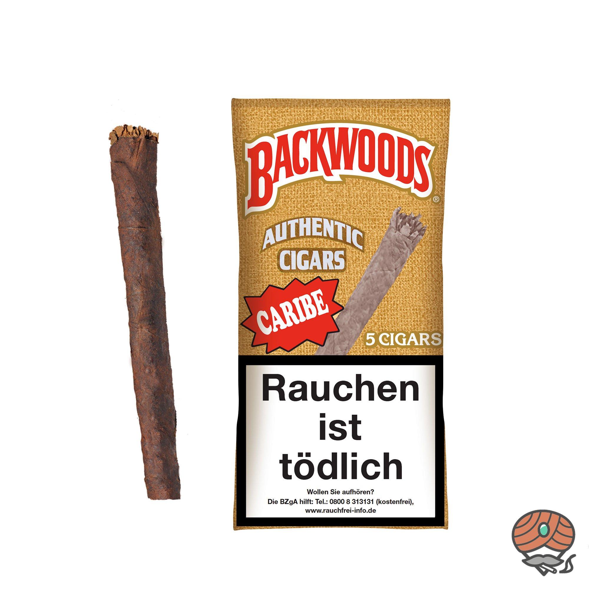Backwoods Caribe Authentic Cigars 5 Stück 100% Tabak im Humipack