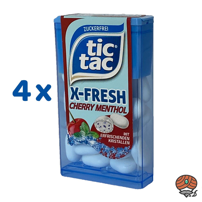 4 x Tic Tac X-Fresh, Cherry Menthol Dragee 16,4 g