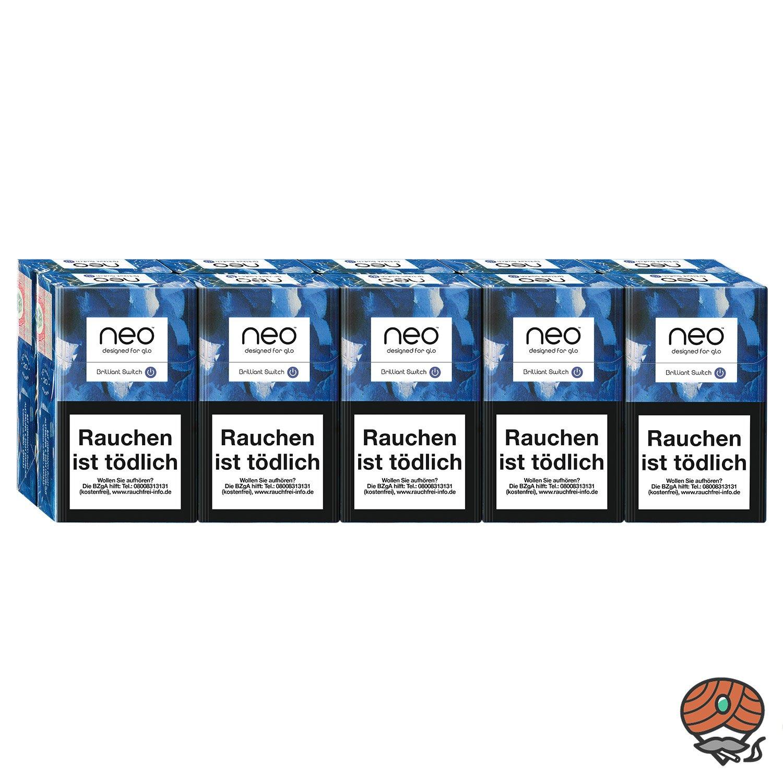 neo Brilliant Switch für GLO - 10 x Tabak Sticks à 20 Stück