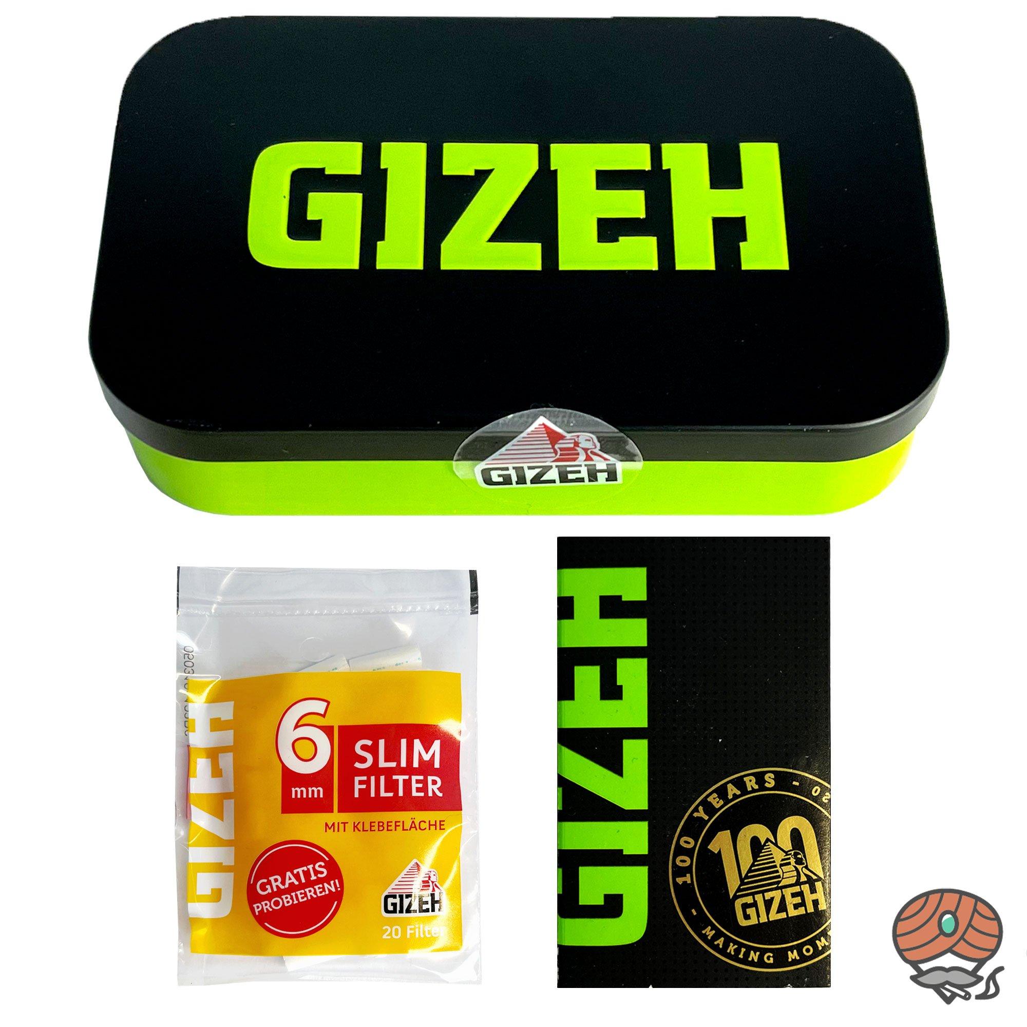Gizeh Metallbox / Testbox mit Black Magnet Fine Blättchen und Slimfilter