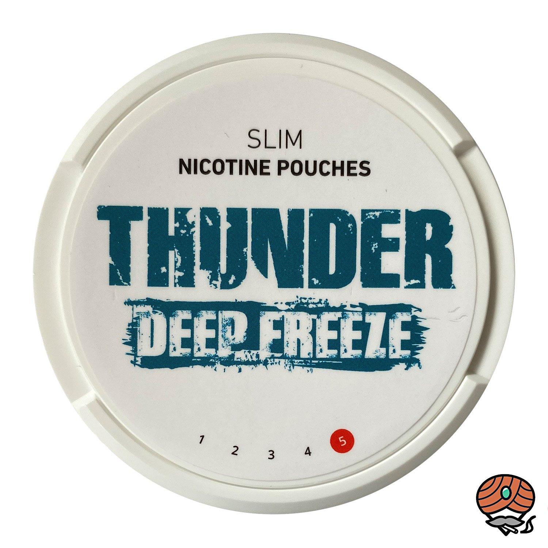 THUNDER Deep Freeze SLIM Extra Strong - Nikotinbeutel / Nicotine Pouches, Kautabak Snus