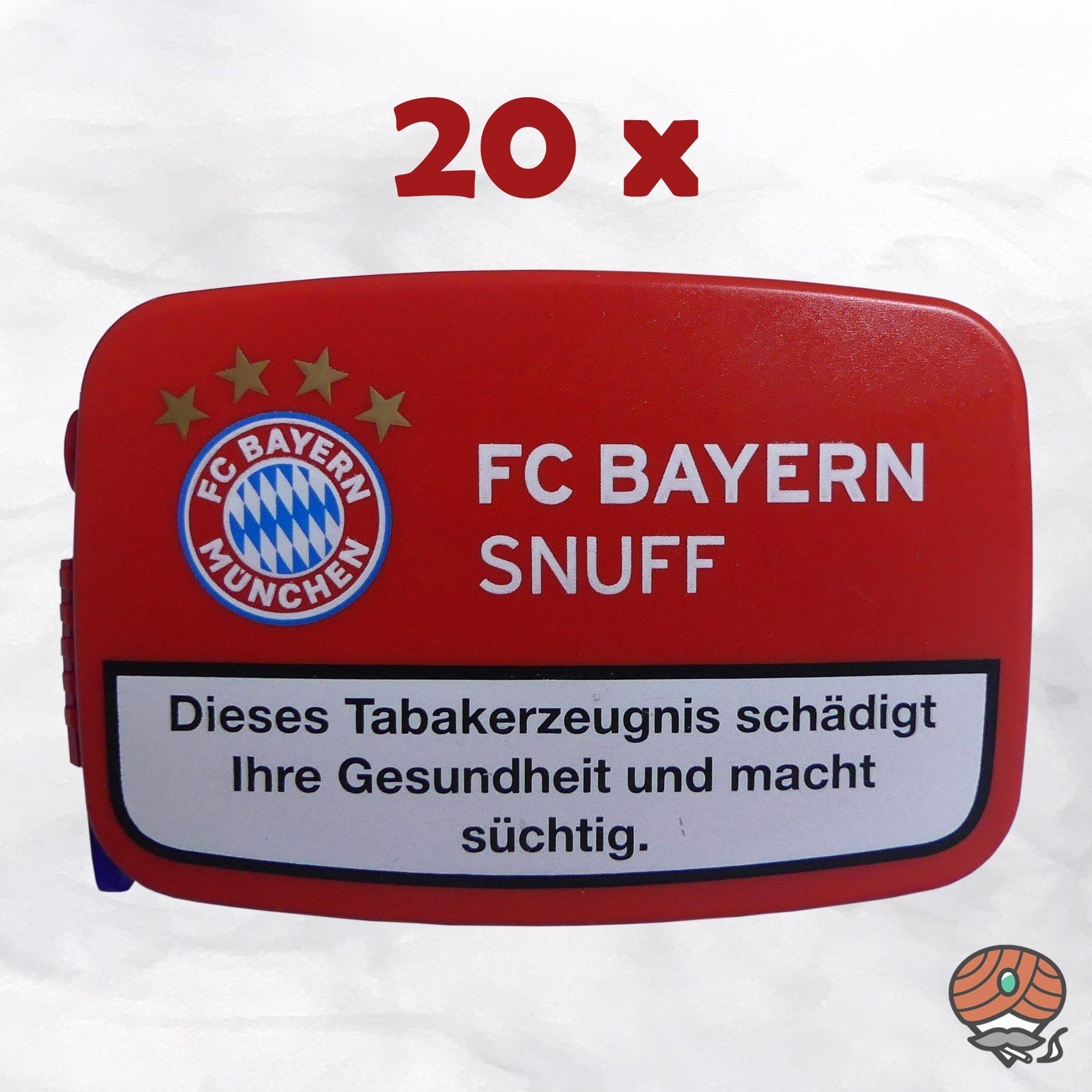 20 x FC BAYERN Snuff Schnupftabak Dose à 10g