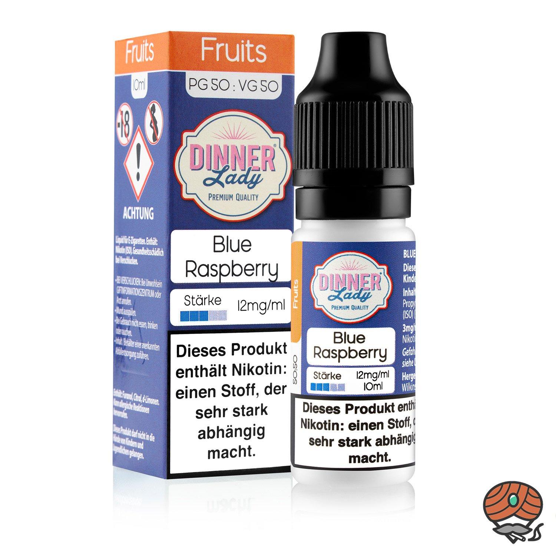 Dinner Lady Blue Raspberry 12 mg/ml Nikotin, 10 ml Liquid 50/50