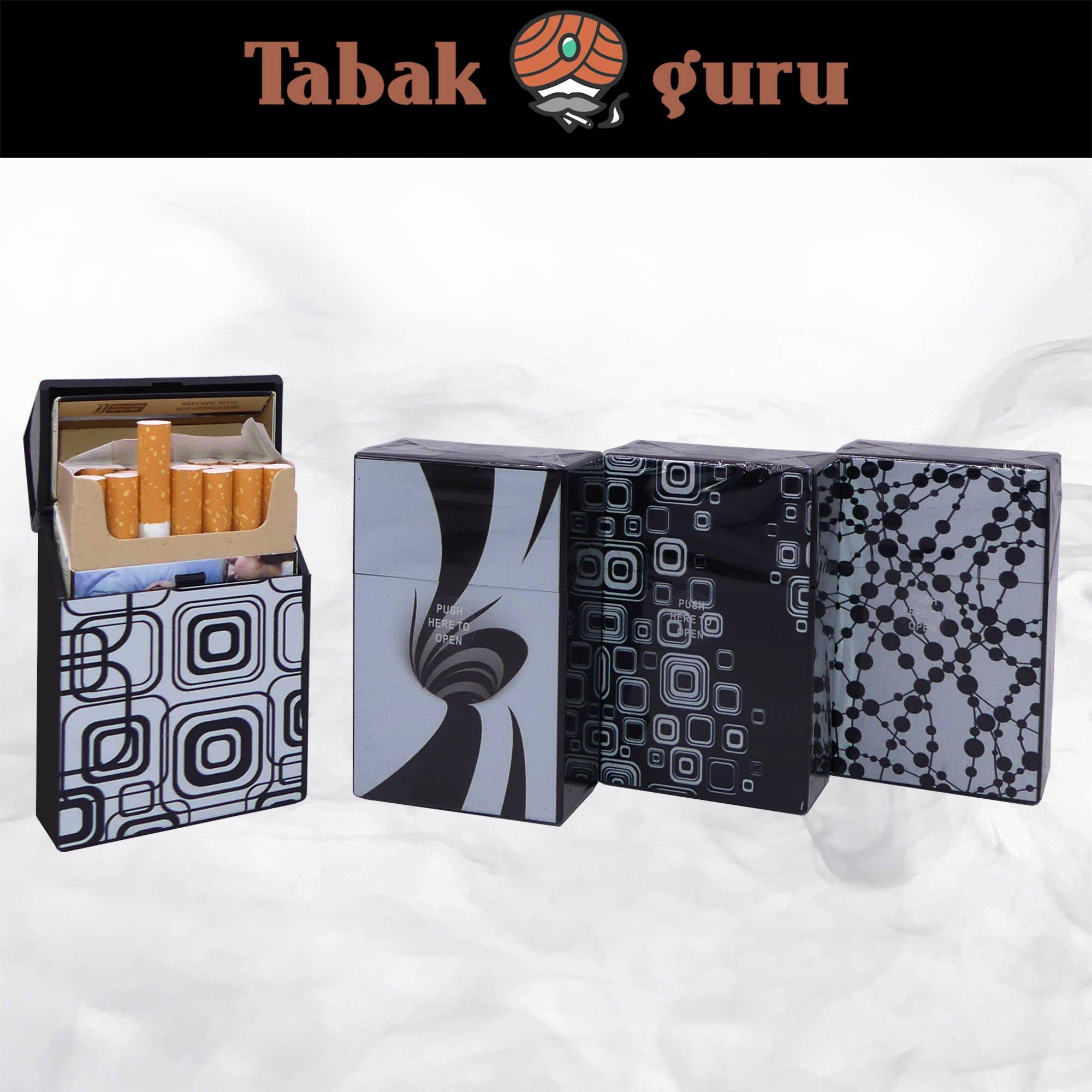Atomic Kunststoff Zigarettenbox Motiv Black & White