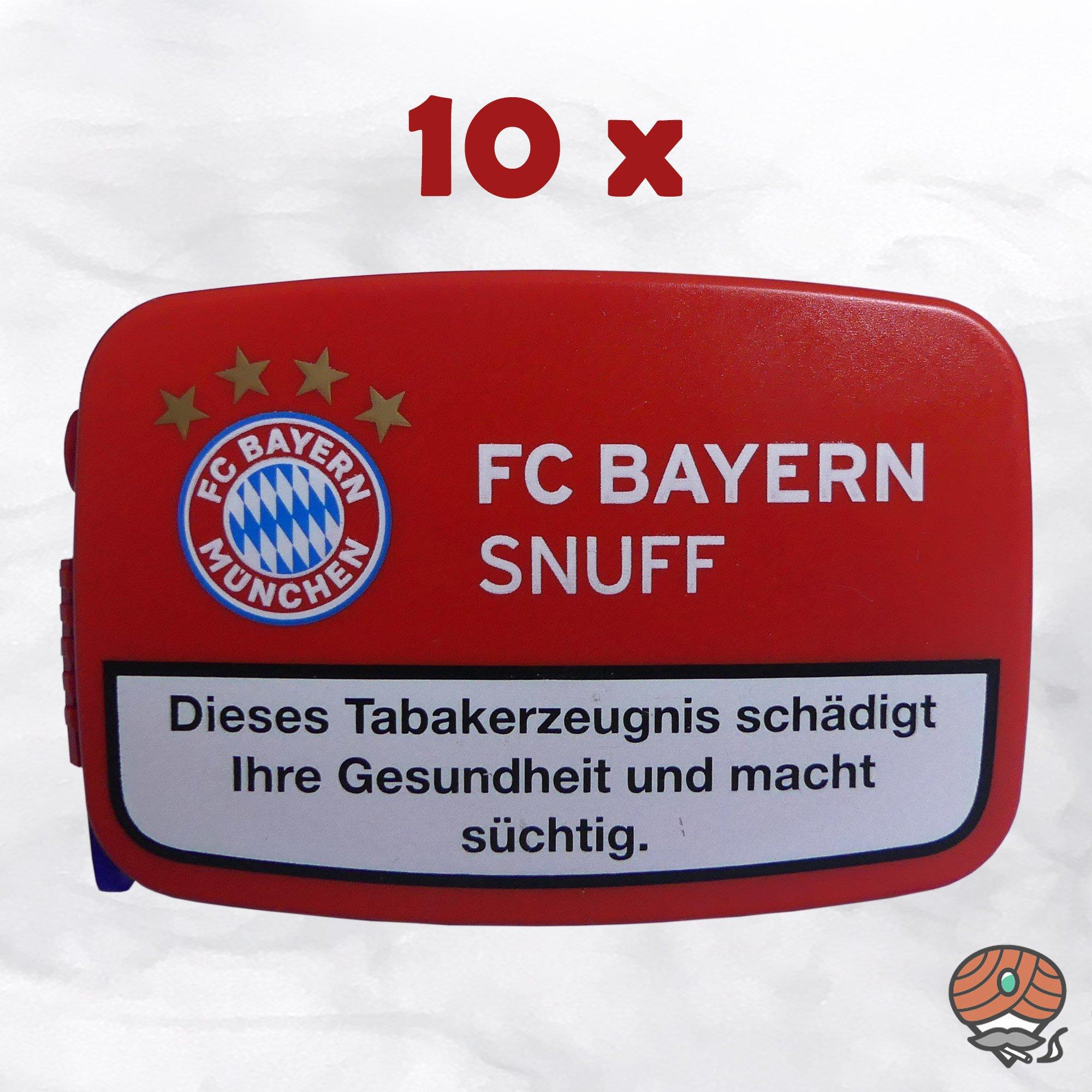 10 x FC BAYERN Snuff Schnupftabak Dose à 10g