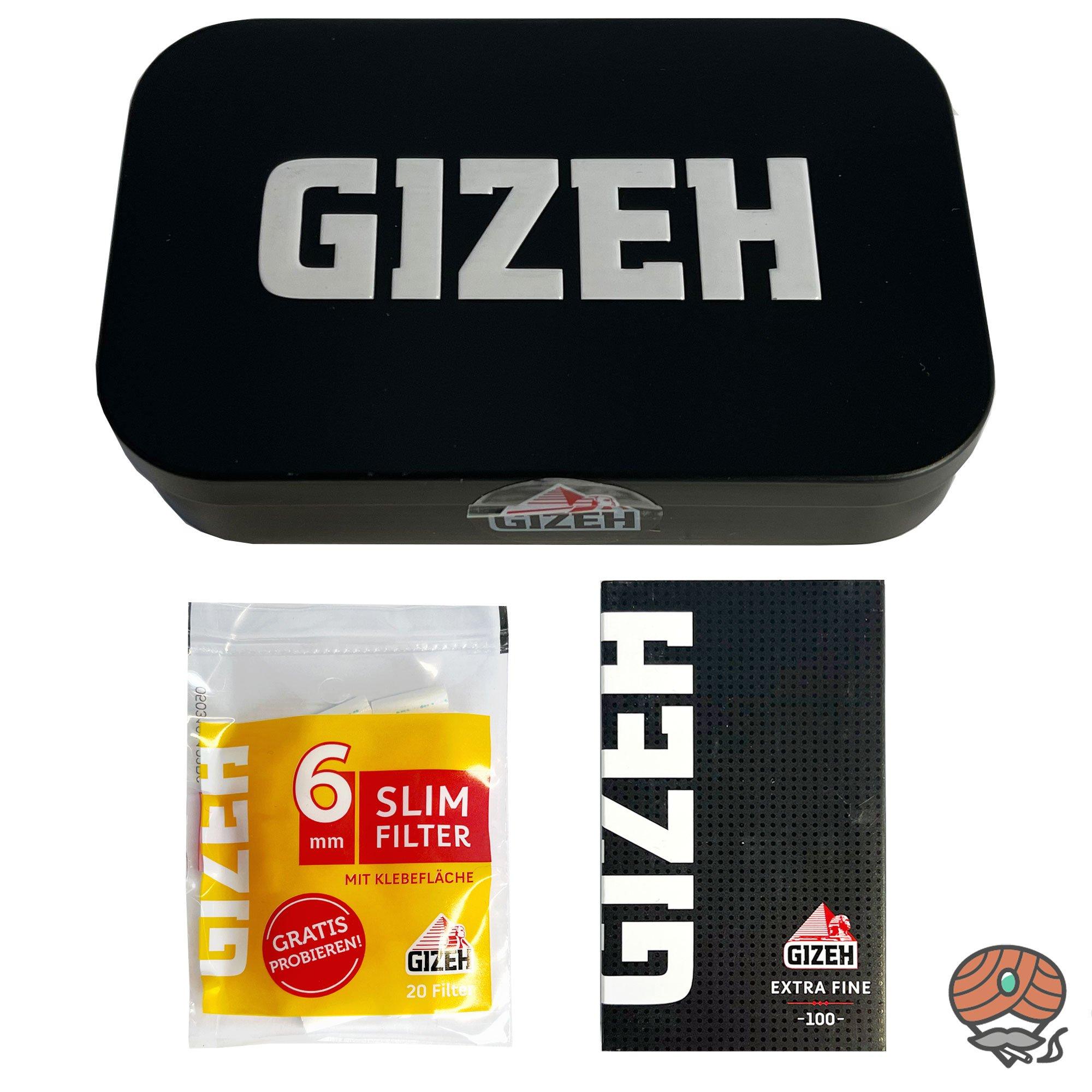 Gizeh Metallbox / Testbox  + Extra Fine Blättchen und Slimfilter