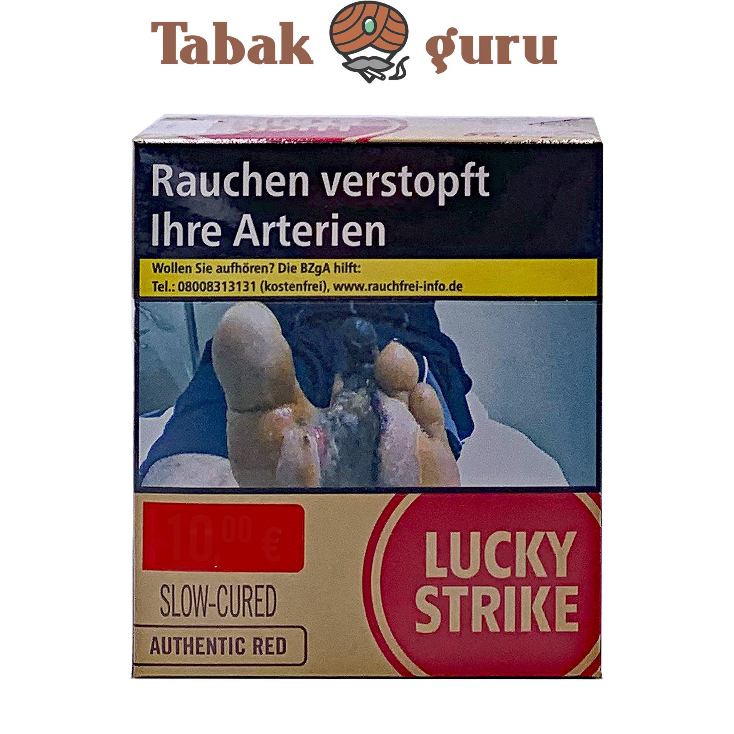 Lucky Strike Authentic Red Zigaretten Giga Box (ohne Zusätze) Inhalt 31 Stück