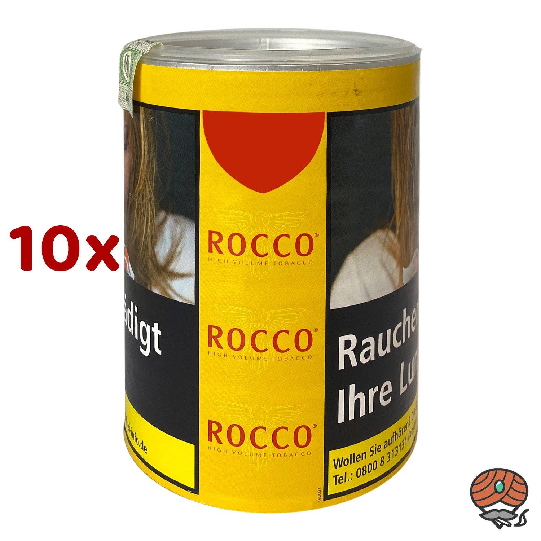 10 x ROCCO Tabak / Volumentabak Gelb Dose 70g