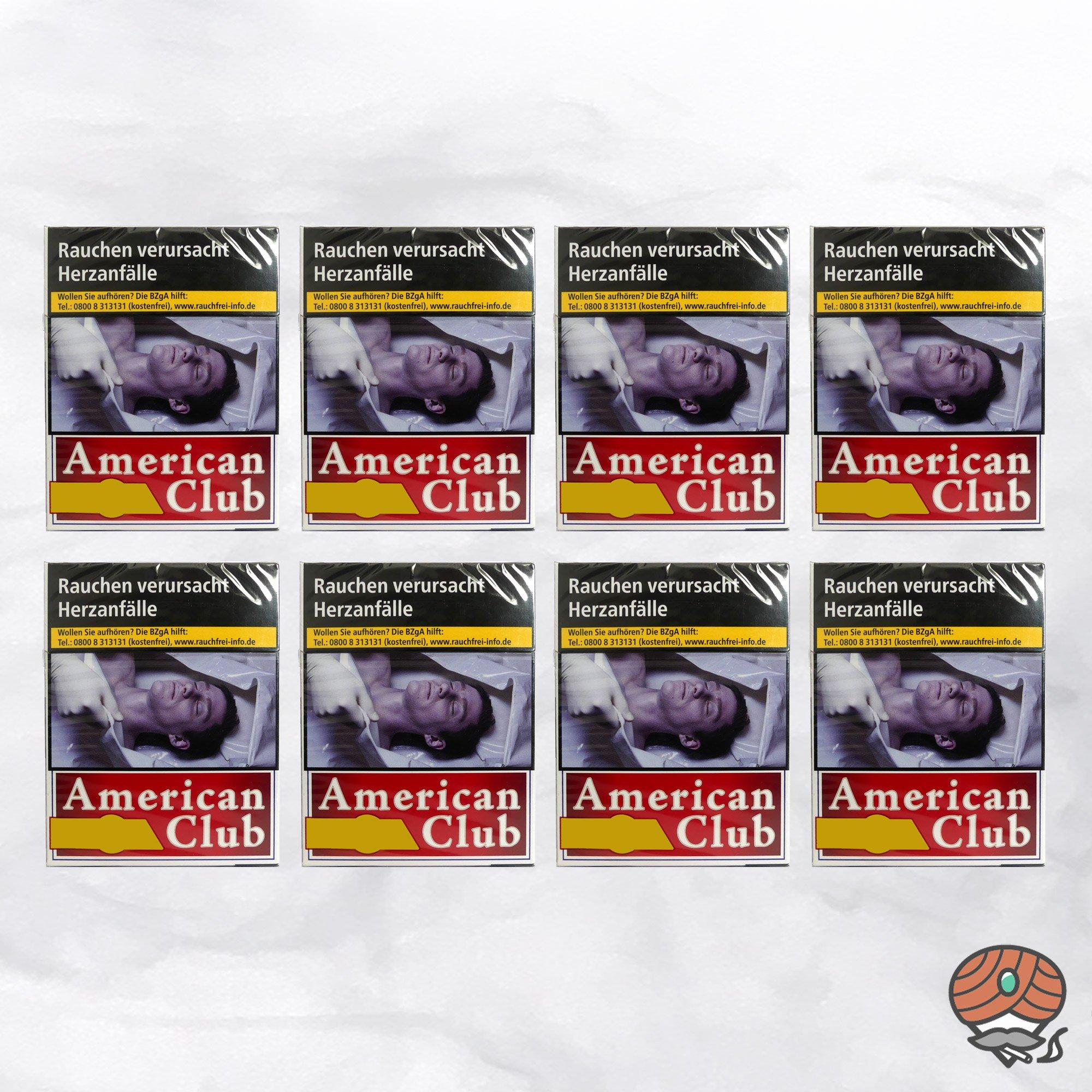 1 Stange American Club Filterzigaretten 8 x BIG BOX à 24 Stück