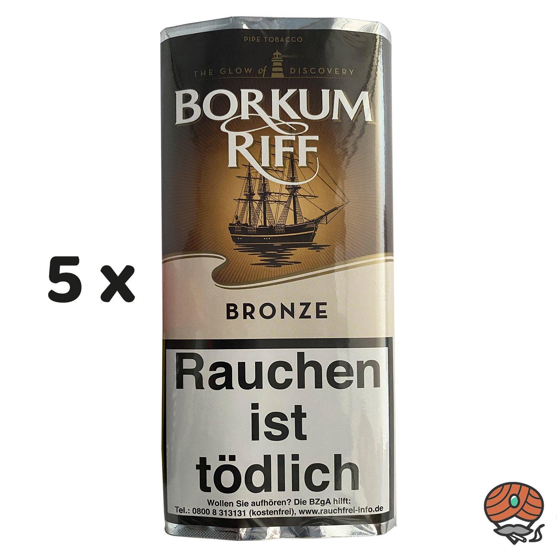 5 x Borkum Riff BRONZE Pfeifentabak 50g Pouch