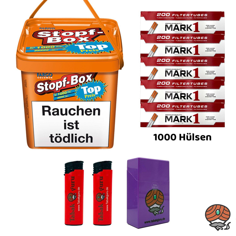 Fargo Stopf-Box 480 g Volumentabak + Mark1-Hülsen + Zubehör