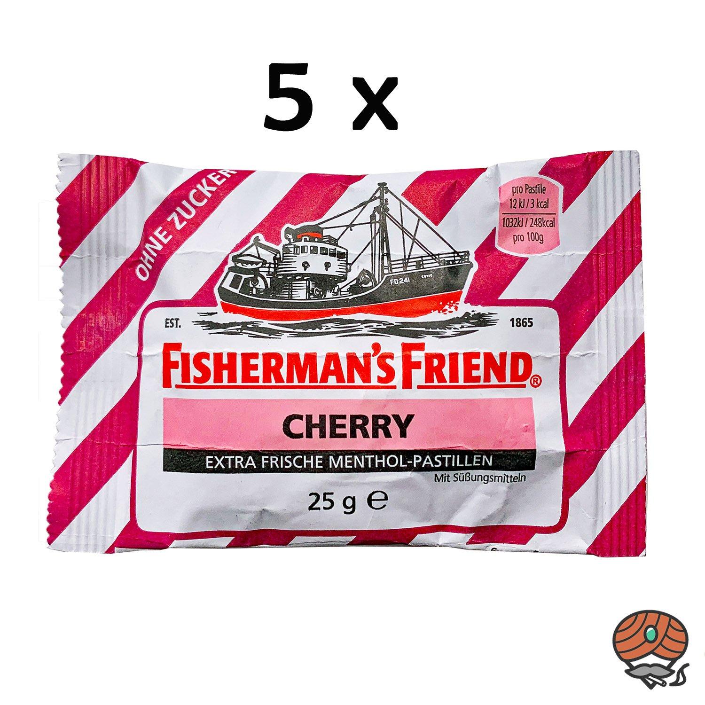 5 x Fisherman`s Friend Menthol-Pastillen Cherry