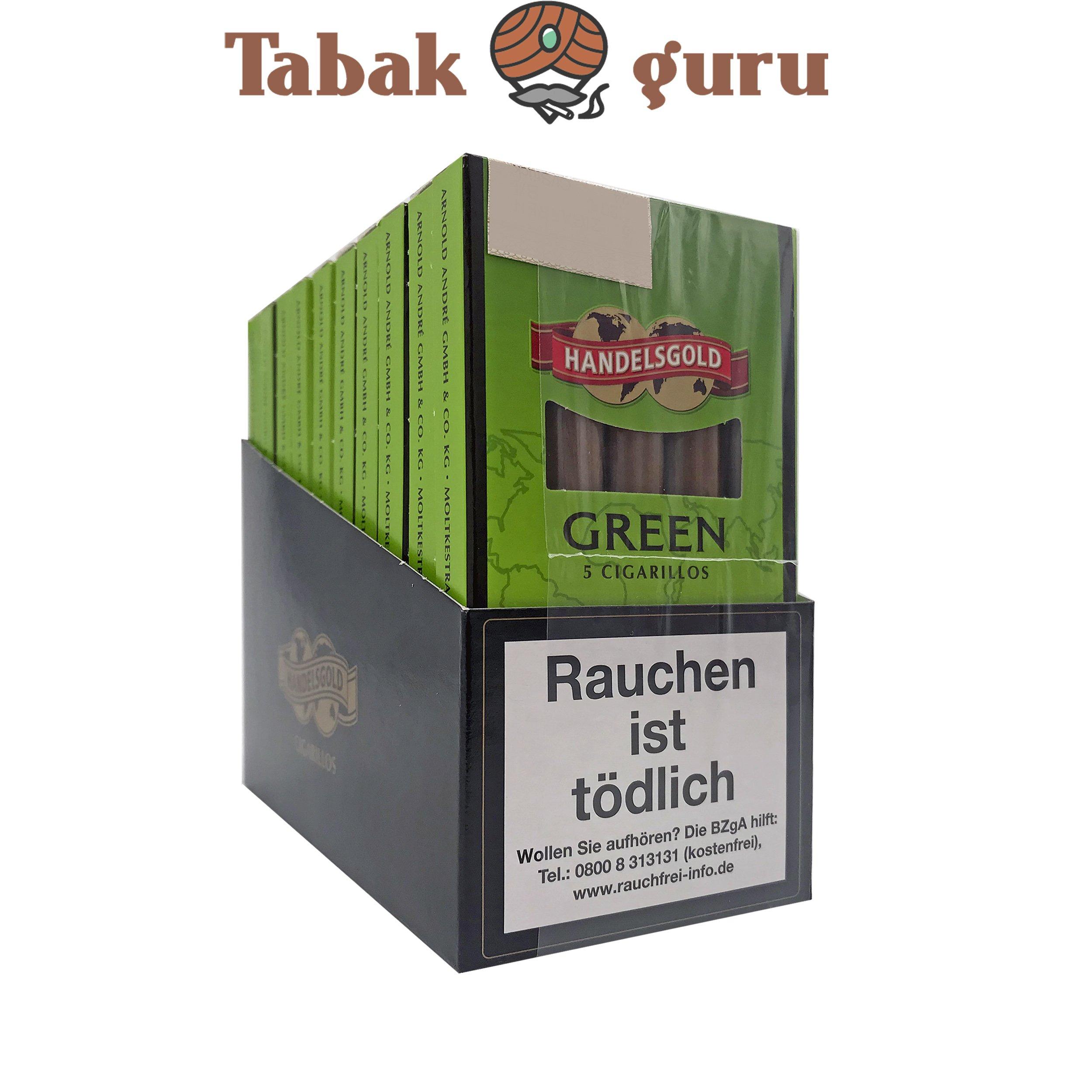 10x Handelsgold No. 205 Green Filterzigarillos à 5 Stück