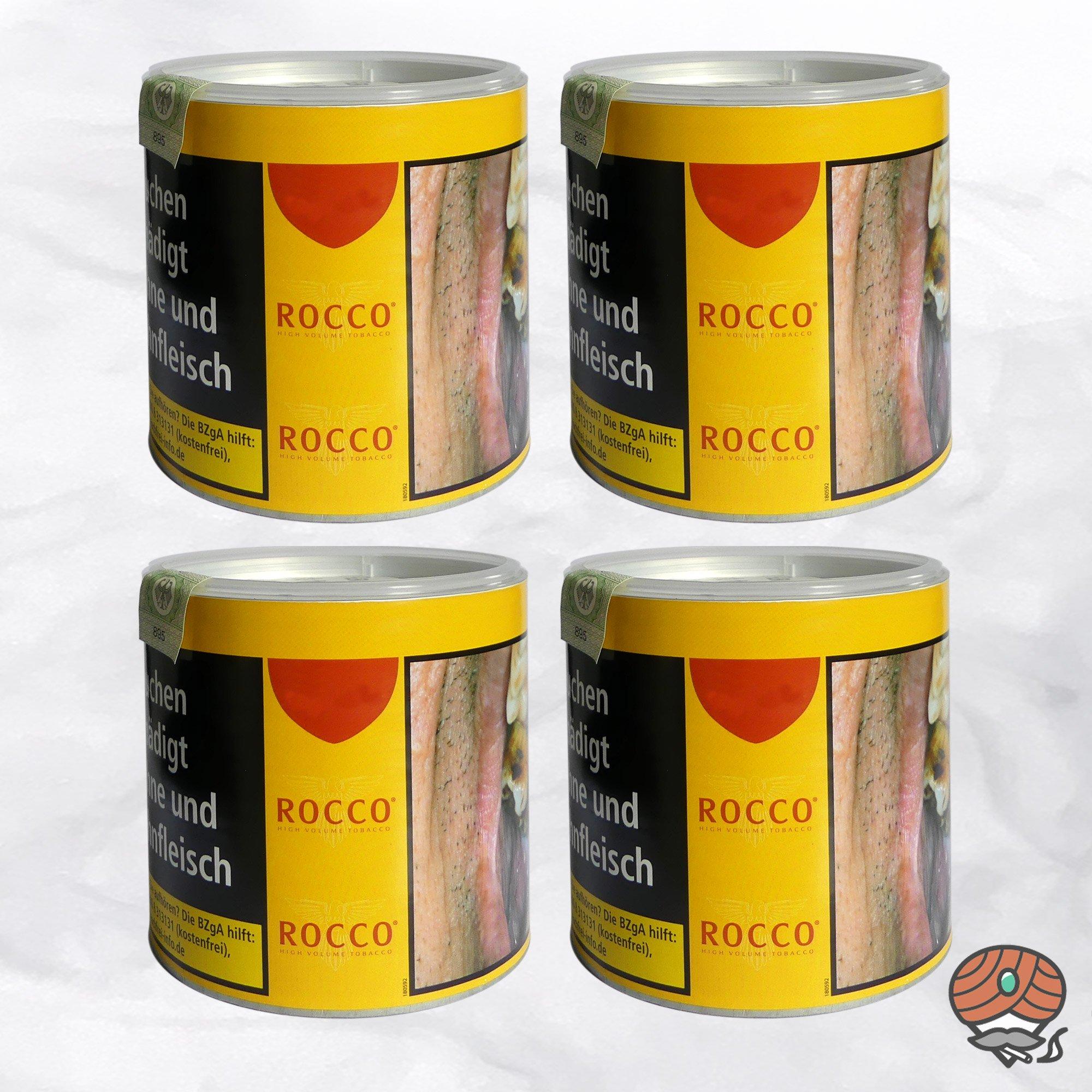 4 x ROCCO Tabak / Volumentabak Gelb Dose 35 g