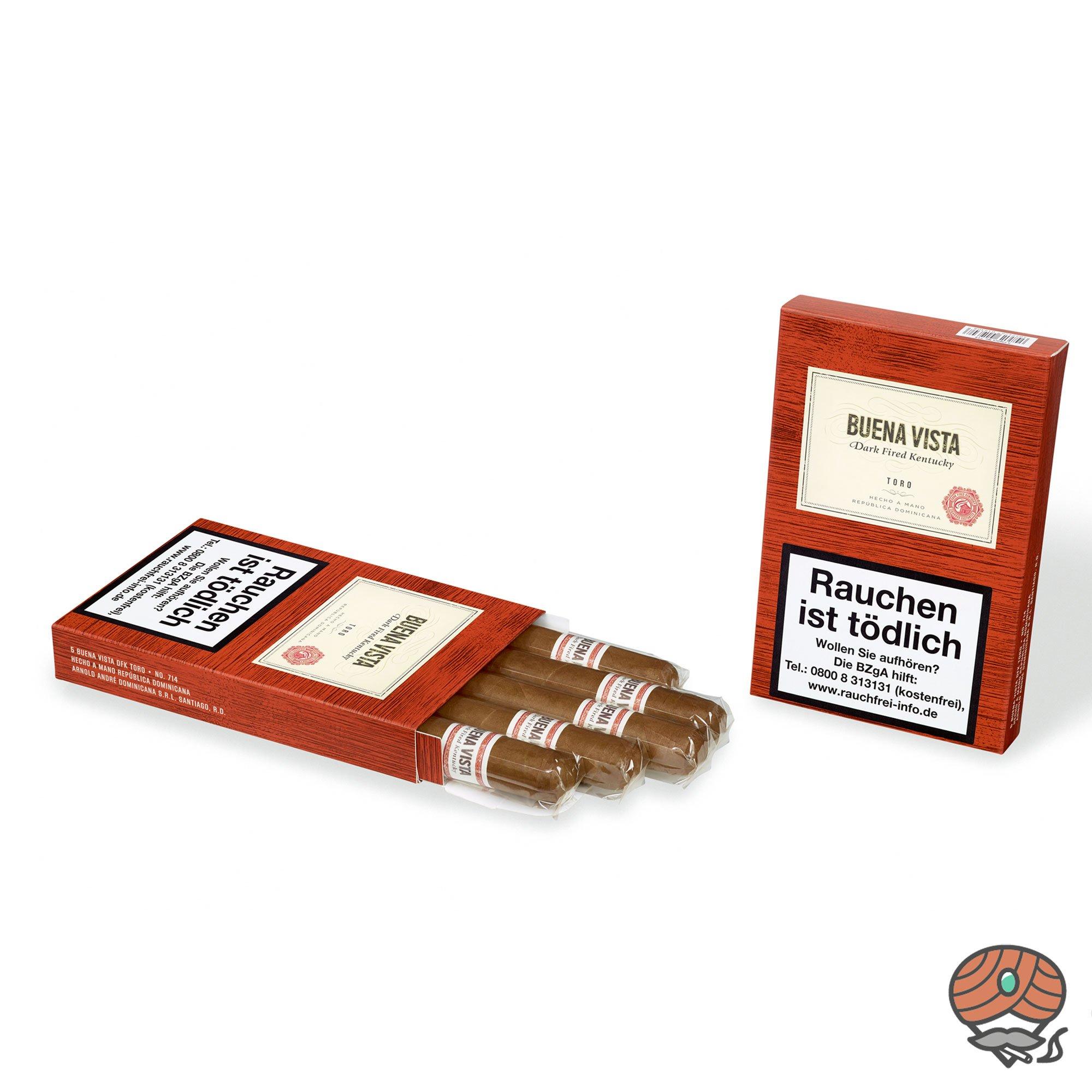 Buena Vista Dark Fired Kentucky Toro Zigarre Dominikanische Republik 5er Pack