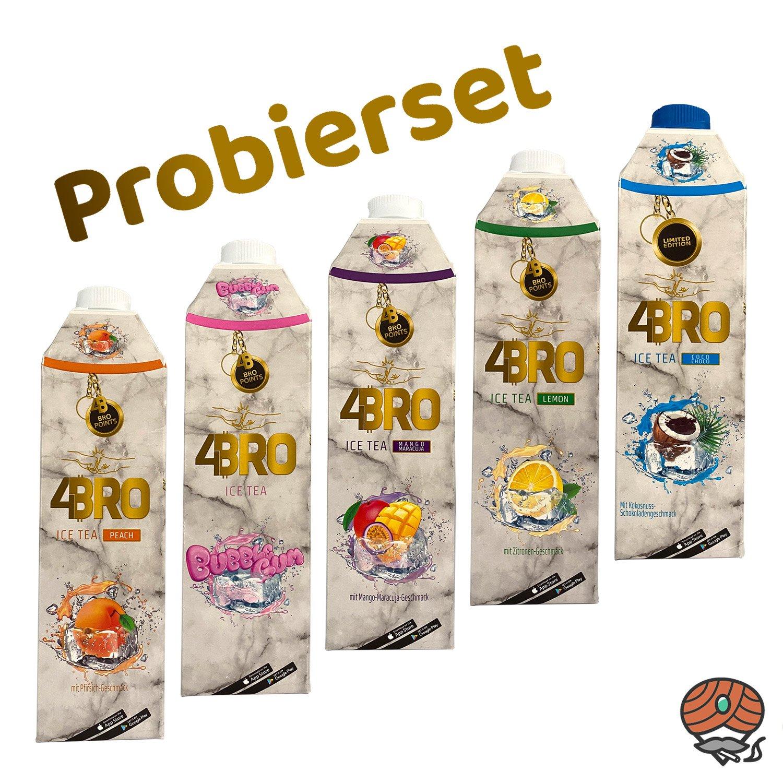 5 x 4BRO ICE TEA Eistee 1 Liter PROBIERSET