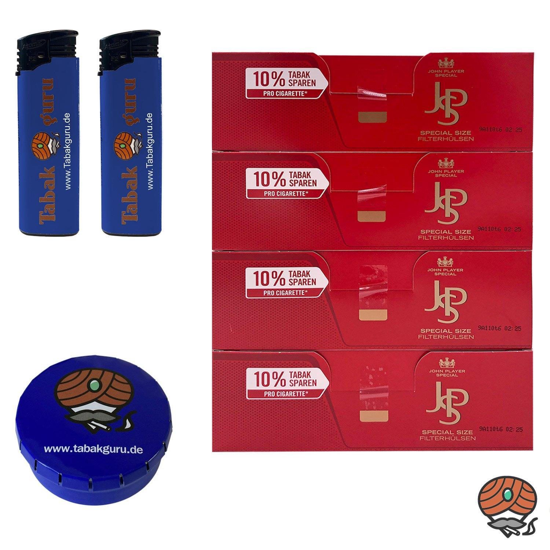 4 Pack JPS John Player Special Extra Filterhülsen + Zubehörartikel