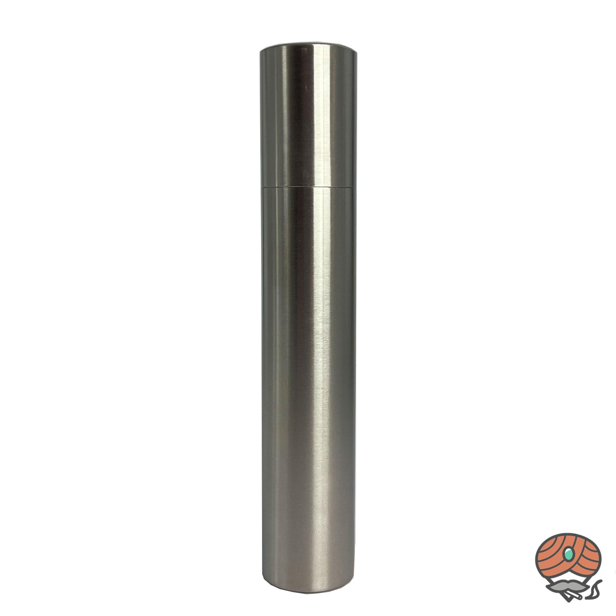 Angelo Zigarren Tube aus Metall / Chrom für 1 Zigarre bis Ringmaß 75