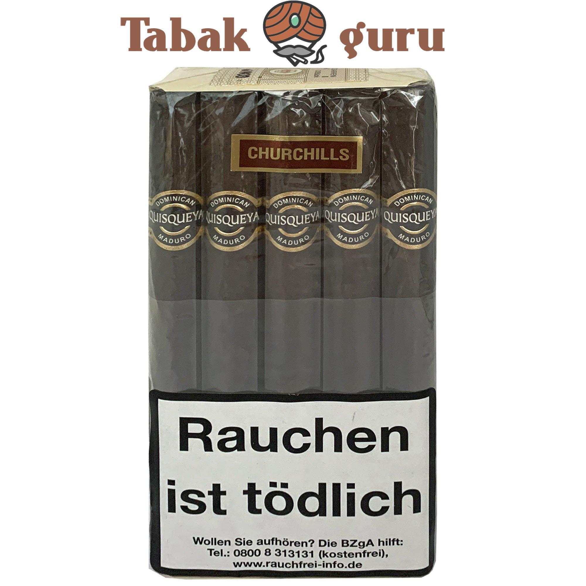 10 Quisqueya Maduro Zigarren im Churchill Format