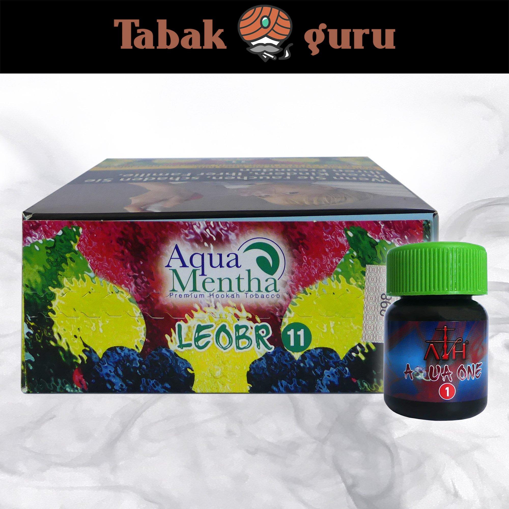 Aqua Mentha LEOBR #11 200g Shisha Tabak + ATH Aqua One Mix