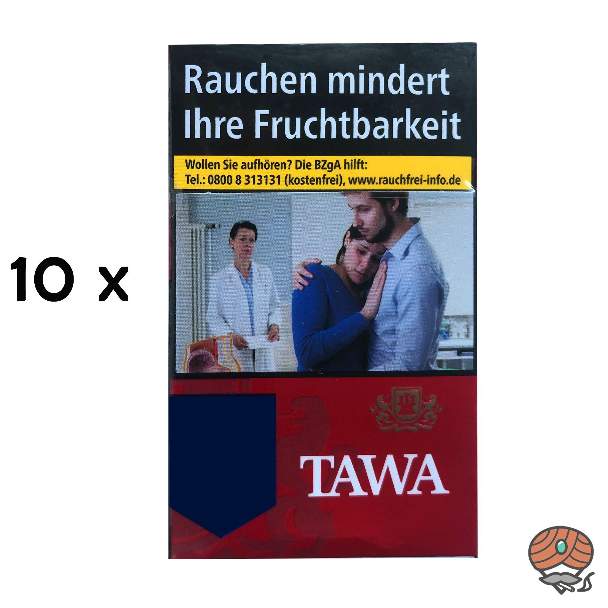 Tawa Red / Rot Zigaretten - 10 x 20 Stück = 1 Stange