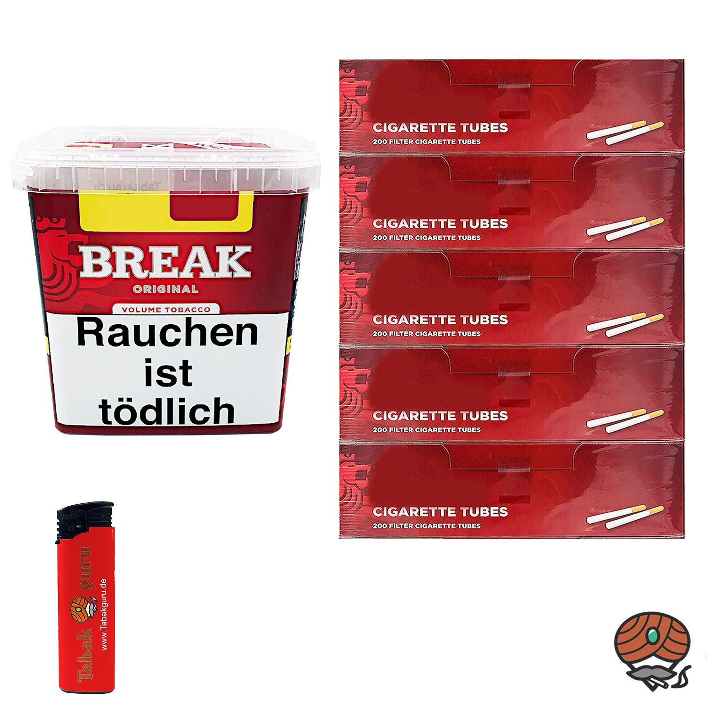 Break Original Volumentabak Giga Box 230 g + 1000 Break Hülsen + Zubehör
