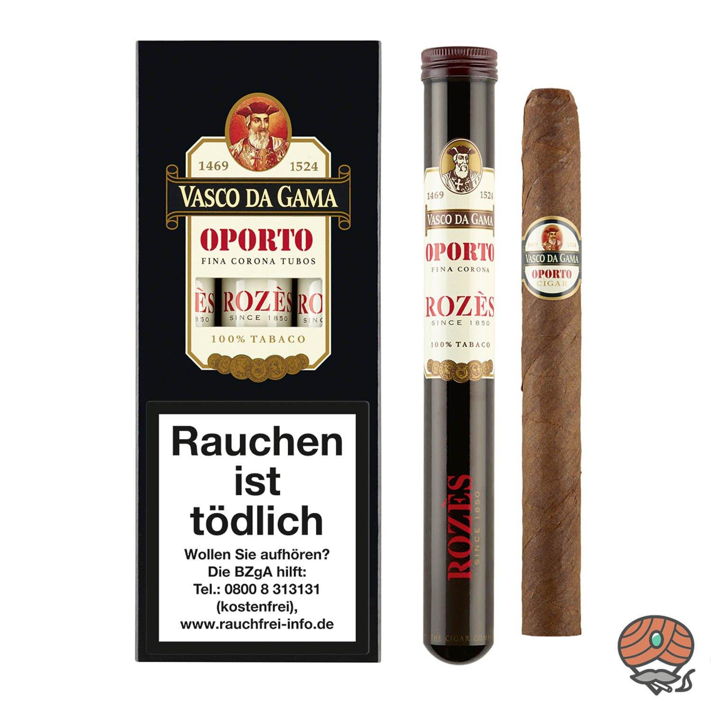 Vasco da Gama Corona Oporto (Portwein) Nr. 84 Zigarren, 3 Stück