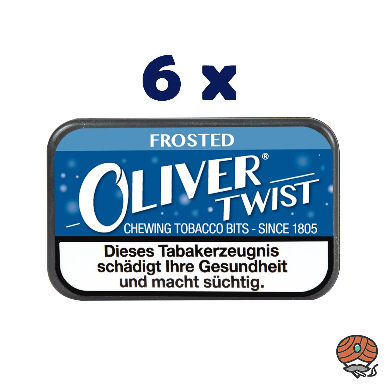 6 x Oliver Twist FROSTED Tabakpastillen, Kautabak, Chewing Bits