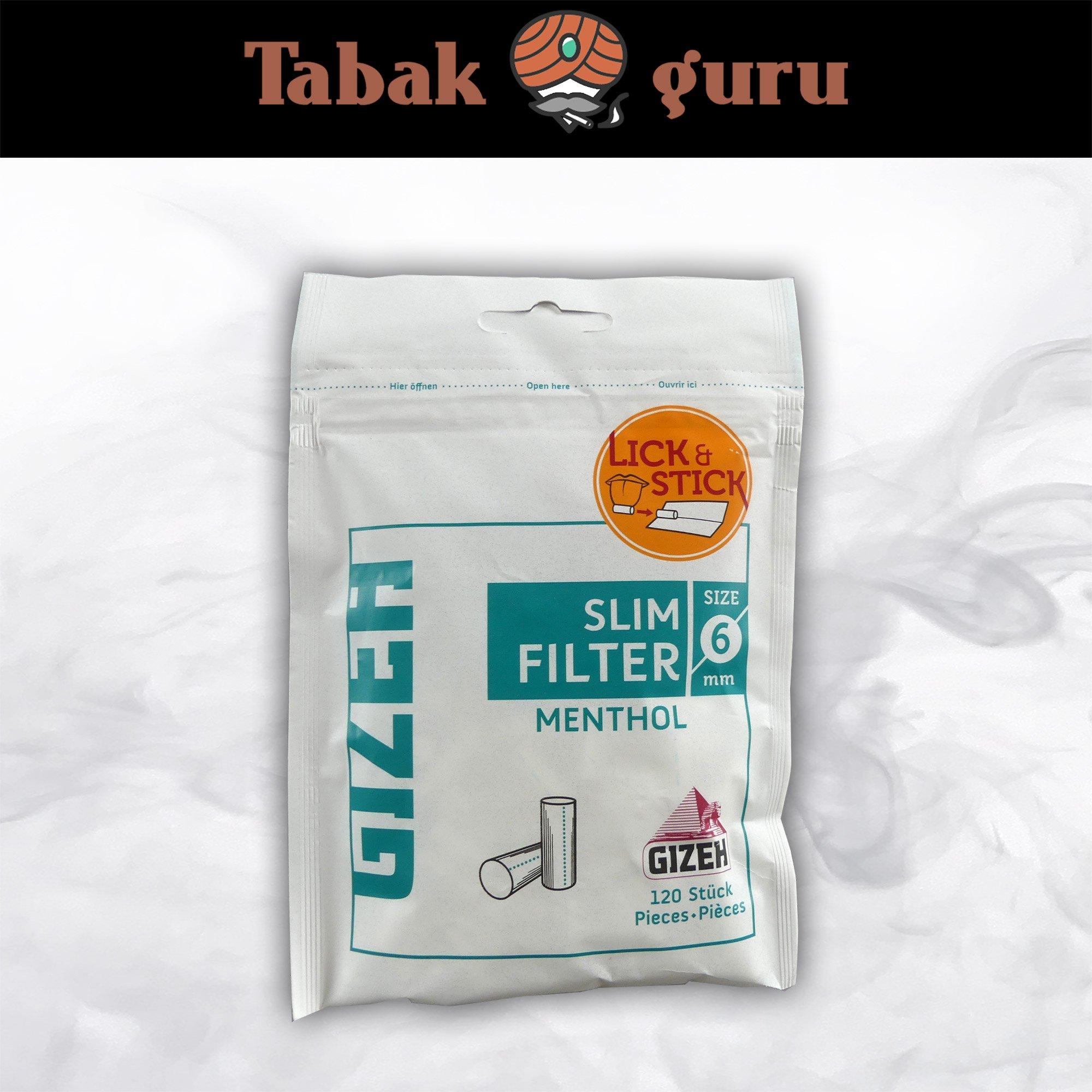 Gizeh Slim Filter Menthol à 120 Filter