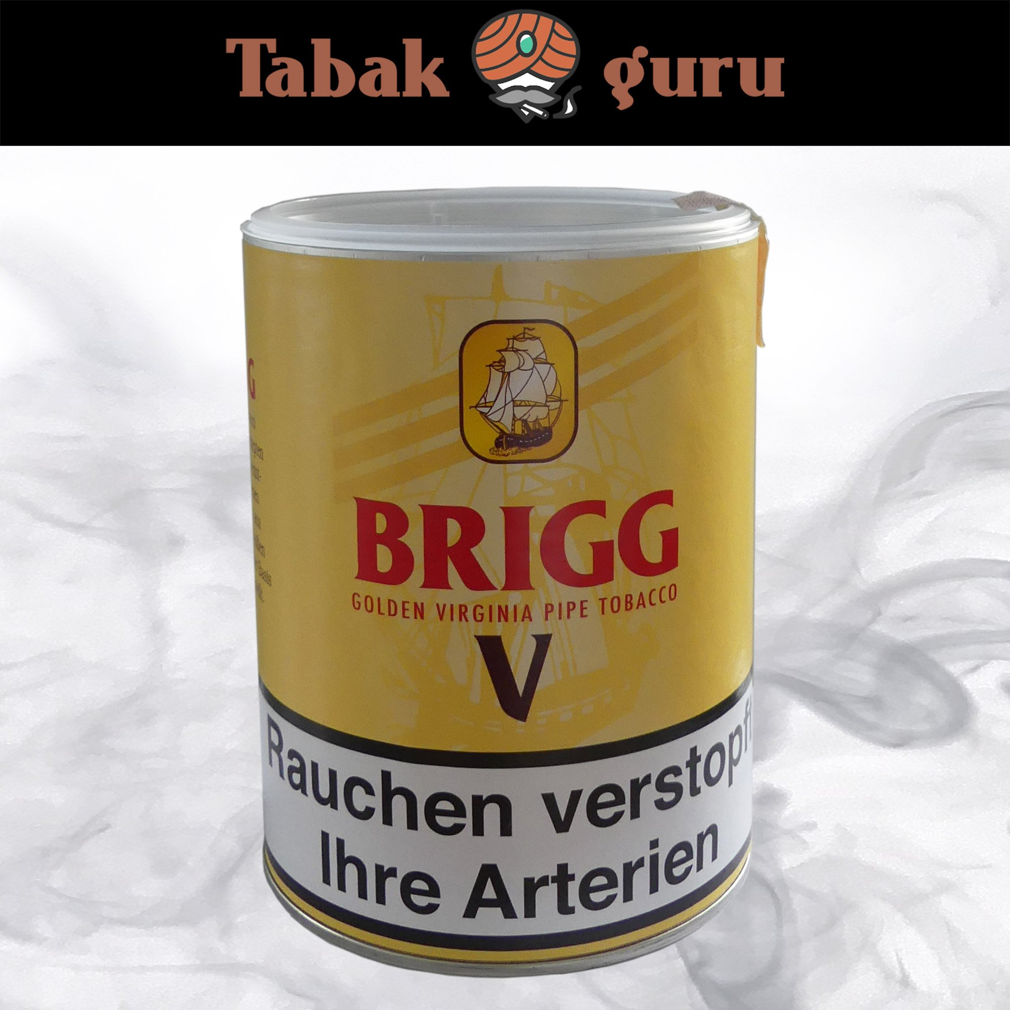 Brigg V (Vanilla) 180g Dose - Golden Virginia Pfeifentabak