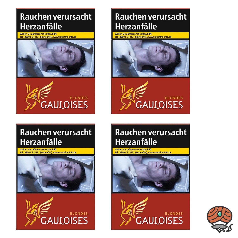 1 Stange Gauloises Blondes Red / Rot Zigaretten 4x38 Stück