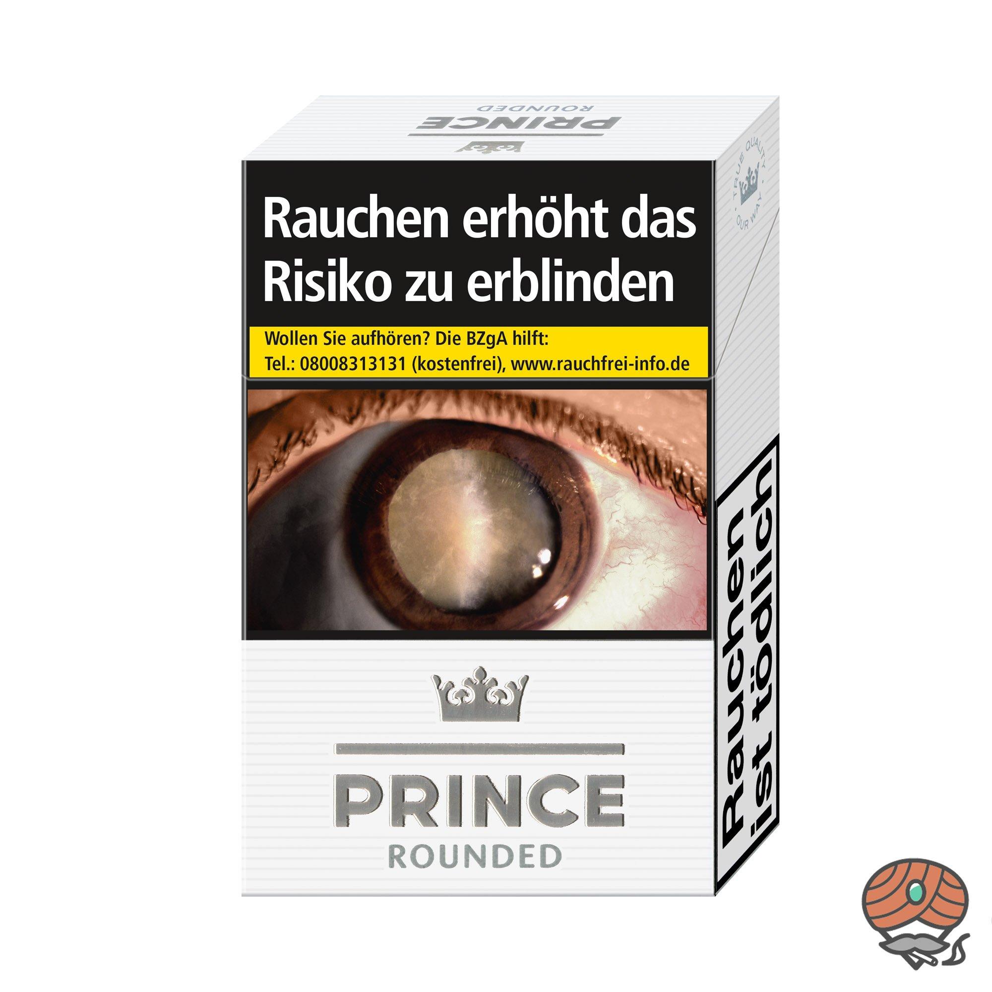Prince Rounded / White Zigaretten Inhalt 20 Stück