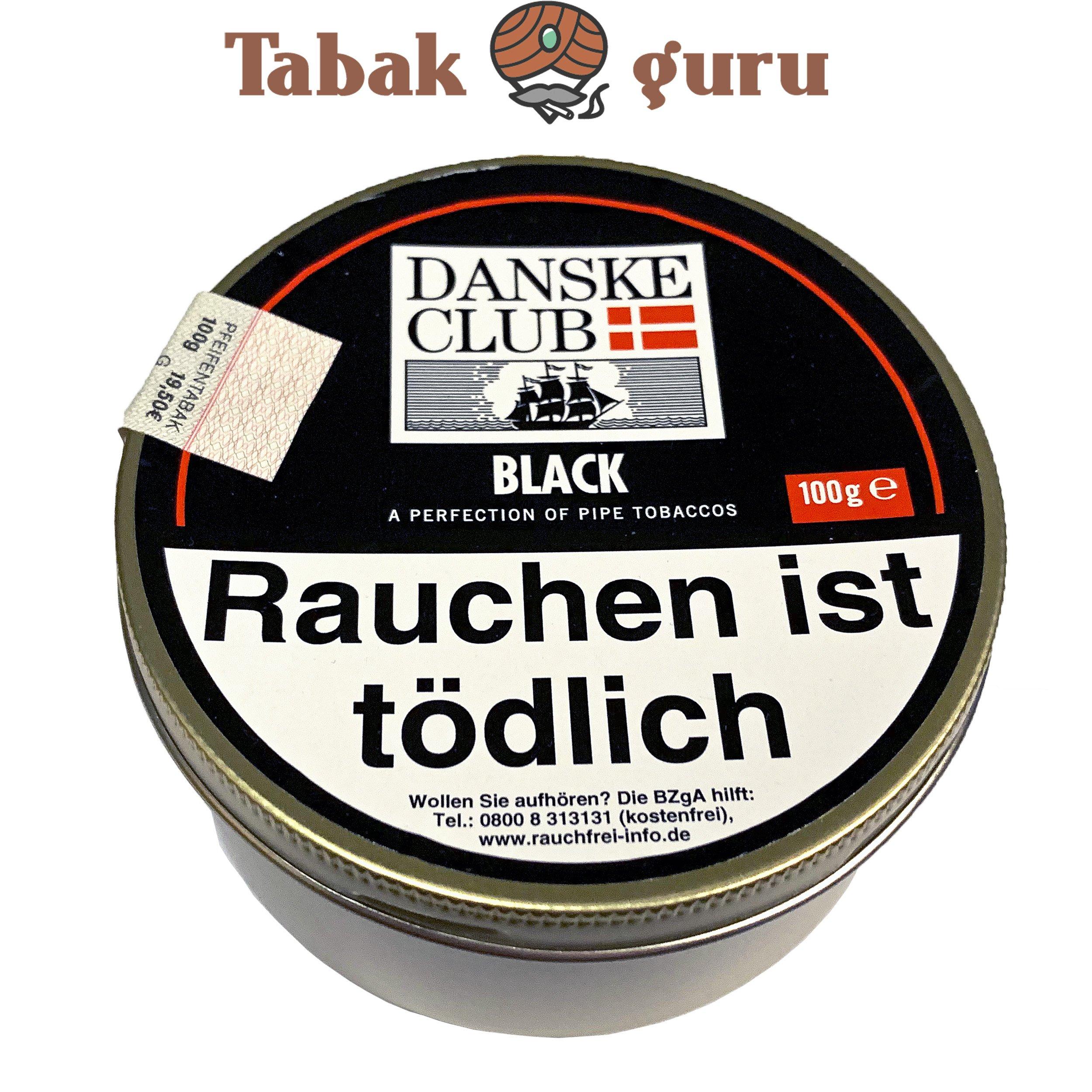 Danske Club Black Pfiefentabak 100g Dose